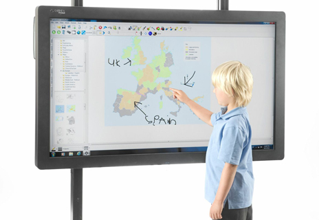 Large format touchscreen systems require no projection system