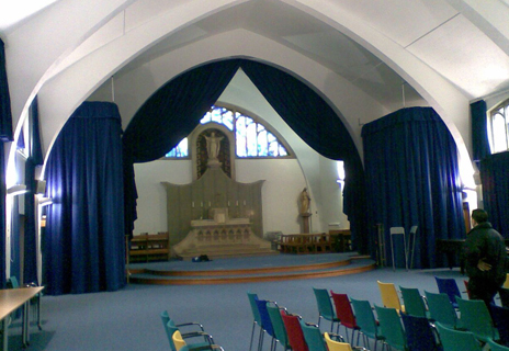 Roehampton University Chapel - curtains and tracking
