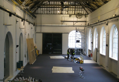 Ironbridge Museum, early stages - curtains, tracking, projection equipment