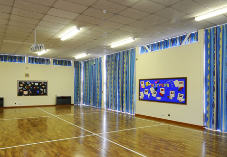 Hall County Primary - curtains and tracks