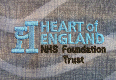 Specialist embroidery for heart of England NHS trust