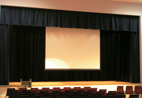 Whitmore School - stage curtains