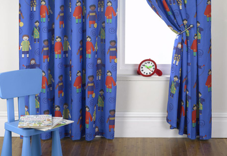 Curtains for nursery in SMD Friendship fabric