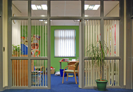 Queensmead Primary School - vertical blinds