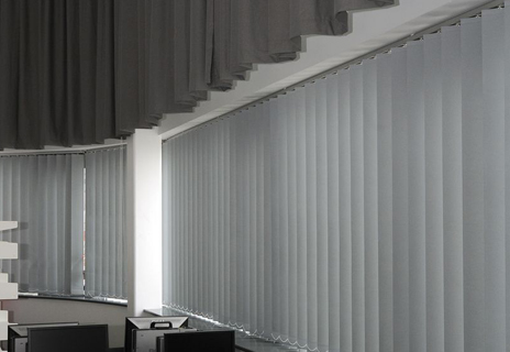 Soar Valley College - curtains and vertical blinds