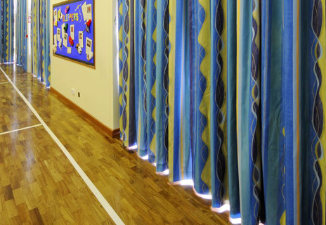 Hall County Primary School curtains