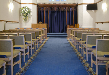 Gilroes Crematorium - floor coverings and curtains