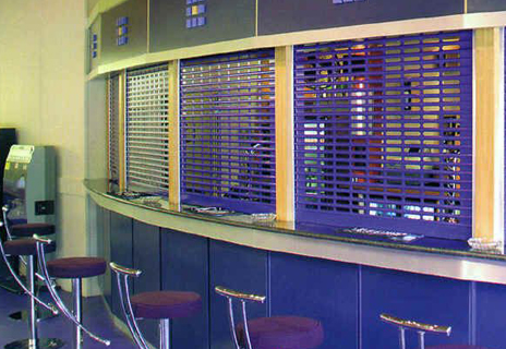 Grilles and shutters are excellent at protecting internally divided spaces