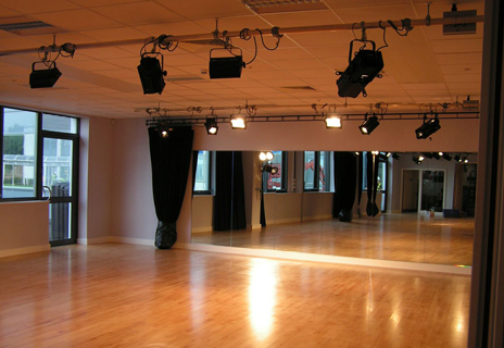 Whitmore High School - lighting bars, curtains and dance mirrors