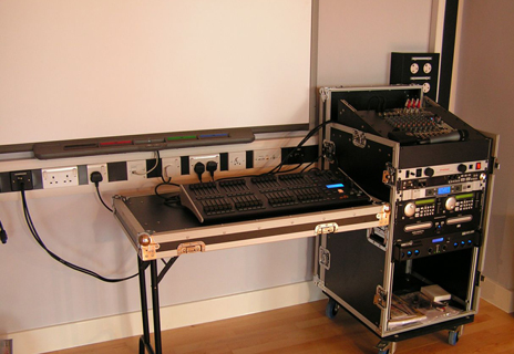 Whitmore High School - control desk and audio rack